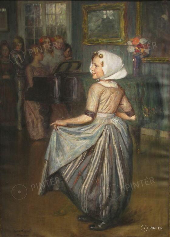 Knopf, Hermann (1870-1928): Táncóra (olaj, vászon, 103 x 74 cm, j.b.l.: Her. Knopf München) kikiáltási ár: 800.000 HUF