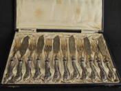Historizáló ezüst halaskészlet