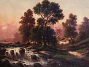 Osztrák táj folyóval