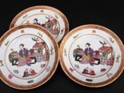 Herendi süteményes tányérok (3 db), keleti jelenettel
