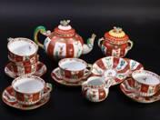 Herendi teáskészlet sárkányos gödöllői dekorral