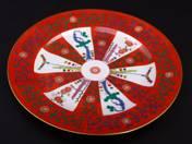 Herendi süteményestál gödöllői dekorral