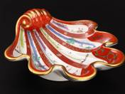 Herendi kagylós kínáló gödöllői dekorral