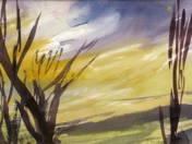 Stefánnia Makovszky: Landscapes (4 pcs)