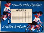 Pajtás kerékpár - órarend