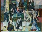 Erkel Színház freskóterve (Bánk bán) (1959)