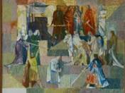 Erkel Színház freskóterve (Bánk bán - vázlat I.) (1959)