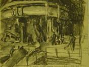 Gyárban (vázlatrajz) (1954)