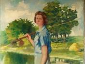 Horgász hölgy