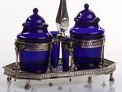 Empire ezüst fűszer kínáló