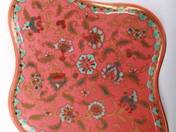 Zsolnay kínálótál perzsarózsa dekorral