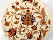 Zsolnay dísztál perzsa virág dekorral
