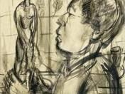 Egry József: Önarckép szoborral (analógia)