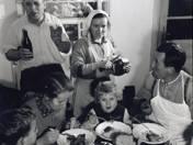 Ebéd disznóölés után (Drégelypalánk)