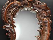 Faragott rokokó tükör