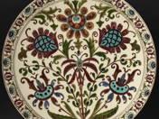 Dísztál perzsa virág dekorral