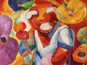 Teddy a virágpiacon