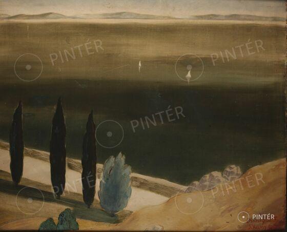 Országh Imre Ferenc (1901-1974): Tihany (olaj, karton, 77 x 94 cm, j.j.l.: Országh I. F. Tihany 936) Kikiáltási ár: 750.000 HUF
