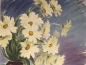 Virágcsendélet margarétákkal