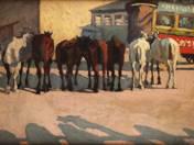Pihenő lovak