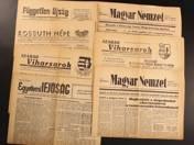 1956-os forradalom alatt kiadott újságok (7 db)
