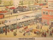 Vasútállomás plakát 1960