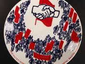 Keletnémet Szocialista párt 25. évforduló emléktányér