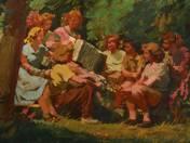 Harmónikázó kirándulók