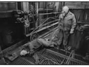 Karbantartók, kohógázüzem, Ózd, 1989