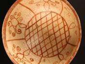Perzsa tál vörös mintával