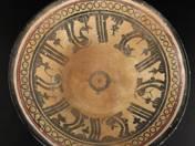 Perzsa tál absztrakt dekorral