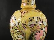 Zsolnay váza virág dekorral