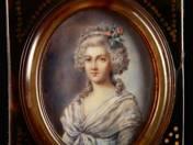 Fiatal hölgy portréja miniatűr