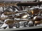 Bécsi ezüst keresztelő készlet dobozban