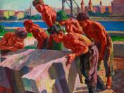 Munkások az Erzsébet hídnál (1959)