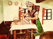 Népviseletes lány (1982)