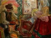 Kukoricát morzsoló öreg, fiatal anyával (1936)