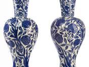 Zsolnay váza pár izniki dekorral