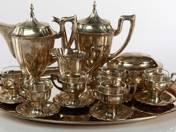 Art-deco ezüst hat személyes kávéskészlet