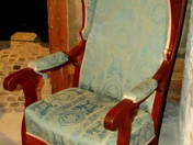 Biedermeier stílusú füles fotel