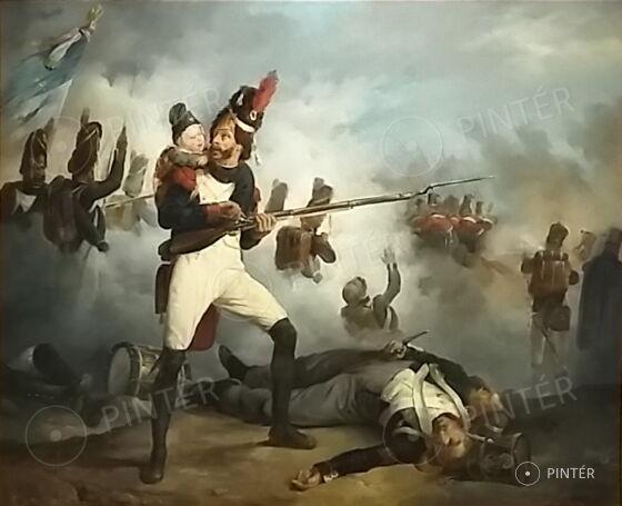 Jean Victor Adam (1801-1867): Napóleoni háborúk (olaj, vászon, 60,5 x 74 cm, j.j.l.: V. Adam 1823, VÉDETT!) kikiáltási ár: 1.800.000 HUF