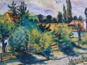 analógia: Nagy István: Faluvége, karton, olaj, 50 x 71 cm,  j.l.j.: Nagy István, Reprodukálva: Kieselbach Galéria 4. aukció, 1998, kat. 282.