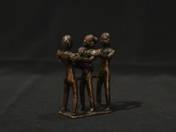 Afrikai bronz erotikus szobrocska (háromalakos)