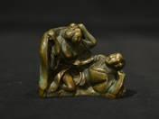 Japán bronz erotikus szobrocska (kétalakos) 1.