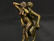 Faun és Nympha táncospár (kétalakos, összeilleszthető)