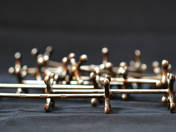 Bécsi antik ezüst késbak 12 db