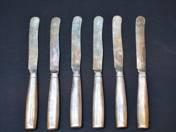 Bécsi antik ezüst kések, 6 db
