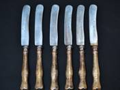 Viennese Antique Silver Knives (6 pieces)