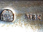 Bécsi antik ezüst reggeliző készlet 6 személyes