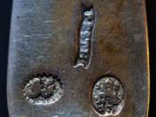 Pesti antik ezüst teáskanál 6 db